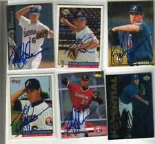 (6) Rod Henderson Autographed Baseball Cards ALL DIFFERENT Expos