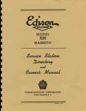 Edison-Splitdorf  Model RM ~ Magneto Owner's Manual ~ Reprnt