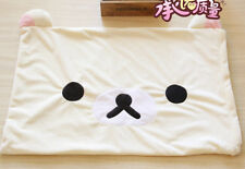 Rilakkuma san-X white bear fuzzy single pillowcase pillow case YT344 NEW