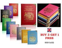 New Passport Holder For UK & European Passport Cover PU Leather Buy 3 Get 1 Free