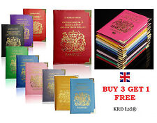 New Passport Holder For UK & European Passport Cover PU Leather Buy 3 Get 1 Free