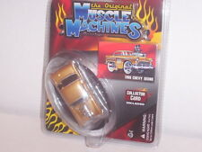 MUSCLE MACHINES THE ORIGINAL 1955 '55 CHEVY SEDAN 1/64 DIECAST COLLECTIBLE