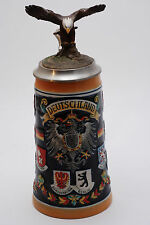 GERZ  German Stein Beer Mug by Handskull (UK) with eagle Tankard Vintage