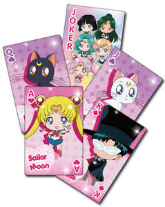 Sailor Moon SD  Spielkarten / Skatkarten / Playing Cards     offiziel lizenziert