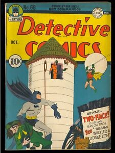 Detective Comics #68 Nice Unrestored 1st Two-Face Cover Batman DC 1942 FN-