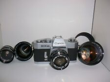 Canon EX-EE Film Camera with 4 Lenses!  Film Tested!