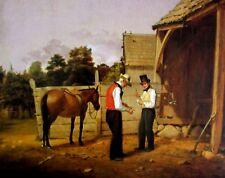VTG Art William S Mount Bargaining for Horse Richard C Woodville War News Mexico