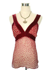 "ALANNAH HILL ""Rush For a Ring"" Cami Top - 100% Silk/Velvet Vintage Designer - 8"