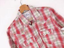 J2107 Levi's Strauss Camicia Maglietta originale Premium Western Quadri TAGLIA S