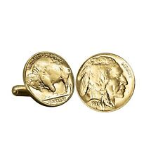 NEW American Coin Treasures Gold-Layered Buffalo Nickel Cufflinks 11340