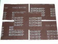 LOT OF 5 MAROON SCOTCH-BRITE 7447 3M HAND PADS 6 X 9 INCHES