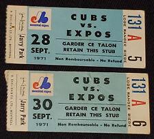 1971 - MONTREAL EXPOS - JARRY PARK - BASEBALL - TICKET STUBS (2)