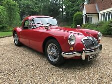 MGA RHD 1958 Coupe Mk1 in Orient Red with Red Trim and Chrome Wires