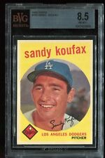 1959 Topps #163 SANDY KOUFAX BVG 8.5! Nm/MINT! Pop=3 vs 162 PSA 8! Very Sharp