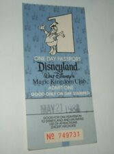 Disneyland One Day Passport Donald Duck Disneyland Souvenir Ticket 1988