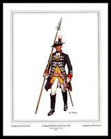 Militär Landgrafschaft Hessen-Kassel 1760 Poster Kunstdruck und Rahmen 30x24cm