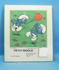 Schlumpf Schiebe Puzzle 1976 Riddle MOTIV : Schlümpfe spielen Fußball 17 x 20 cm