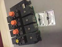 4 valve Bank Parker SCHRADER BELLOWS 145 psi 120v Valve H12WXBG323000CB New