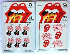ROLLING STONES Vintage Guitar and Logo Stickers - Mick Jagger & Keith Richards