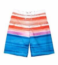 Red Camel® Big Boy's L Ombre Stripe Printed Stretch Board Shorts Nwt