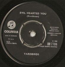 "THE YARDBIRDS EVIL HEARTED YOU & STILL I`M SAD DANISH 7"" 1965 MOD FREAKBEAT R&B"