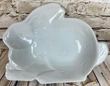Pottery Barn White Bunny Rabbit Shaped Large Serving Bowl for Spring & Easter