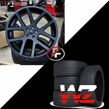 "22"" Viper Style Wheels w Tires Matte Black Fits Dodge Charger Challenger Magnum"