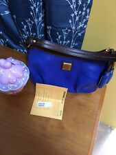 Dooney And Bourke Royal Blue Pouchette NWT