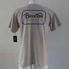 Brixton Grade Short Sleeve T-Shirt Size M Vanilla T SHIRT