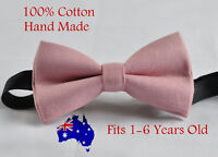 Boy Kids Baby Dusky Dusty Rose Pink Blush Pink Bow Tie Wedding 1-6 Years Old