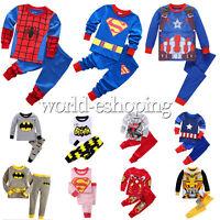 Girls Boys Kids Cartoon Character Pyjamas Nightwear Sleepwear Pj's Age 1-8 Years