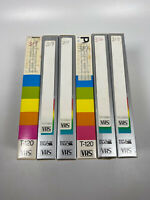 Lot Of 6 Pre-Recorded Mix Label T-120  VHS Tapes Sold As Used Blanks