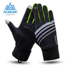 Aonijie Fleece Touch Screen Gloves Unisex Full finger gloves outdoors