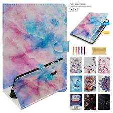 Leather Flip Wake/Sleep Wallet Stand Case Cover For Samsung Galaxy Tab Tablets