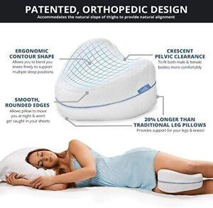 Comfy Leg Pillow Side Sleeper Knee Cushion Washable Cover Pregnant Relief Back