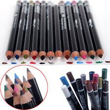 12 Pcs PROFESSIONAL Cosmetic Makeup Eyeliner Eye / Lip Liner Eyebrow Pencil Set