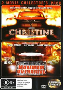 229A NEW SEALED CHRISTINE + MAXIMUM OVERDRIVE 2-DISC SET DVD Region 4