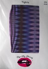 Vintage Geometric Hogmanay  Christmas Party Tights Pantyhose Stockings A