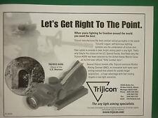 8/2005 PUB TRIJICON COMBAT OPTICAL GUNSIGHTS US SPECIAL FORCES ORIGINAL AD