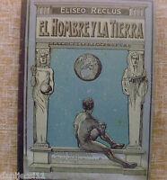 El Hombre y la Tierra, Elíseo Reclús, Casa Editorial Maucci, Tomo quinto, Usado