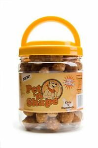 Pet 'n Shape Chik 'n Dumbbells Dog treats 16oz Jar
