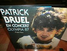 """patrick bruel""""en concert olympia 87""""lp12""""poch/dble.or.fr.ph:932792.1 de 1987."""