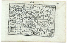Carte ancienne ATLAS LANGENES old map 1609 SILESIE Slunsk Schlesien Wroclaw 355