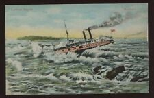 Shipping Canada CORSICAN Paddle Steamer Lachine Rapids early PPC