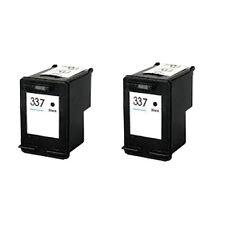 2 Black ink Cartridges for HP 337 Photosmart C4160 C4180 C4183 C41655 C4190