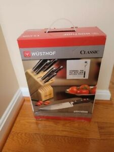 Wusthof Classic Six piece Knife / Block Set, NEW