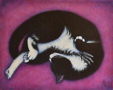 CHARLIE.  Original TUXEDO Cat Art Oil Painting by Heidi Shaulis