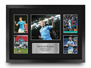 Kevin De Bruyne A3 Framed Manchester City Signed Print Photo a Football Fan