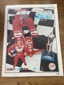 1985 Michigan 500 At Michigan International Cart/Indycar Racing Program