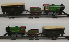 JOUET ANCIEN TRAIN CLE 0 HORNBY # 3615 MECHANICAL TIN TOY SET VINTAGE PULLMAN